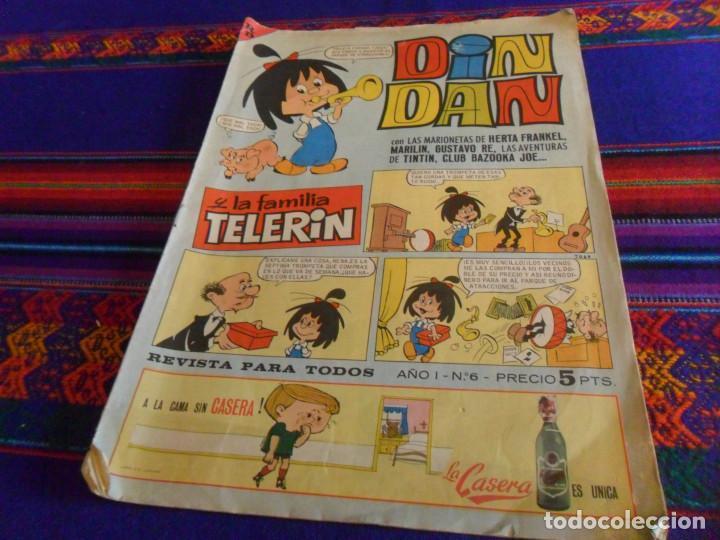 DIN DAN Nº 6 PRIMERA 1ª ÉPOCA Nº 6 CON LA FAMILIA TELERÍN. BRUGUERA 1965. 5 PTS. (Tebeos y Comics - Bruguera - Din Dan)