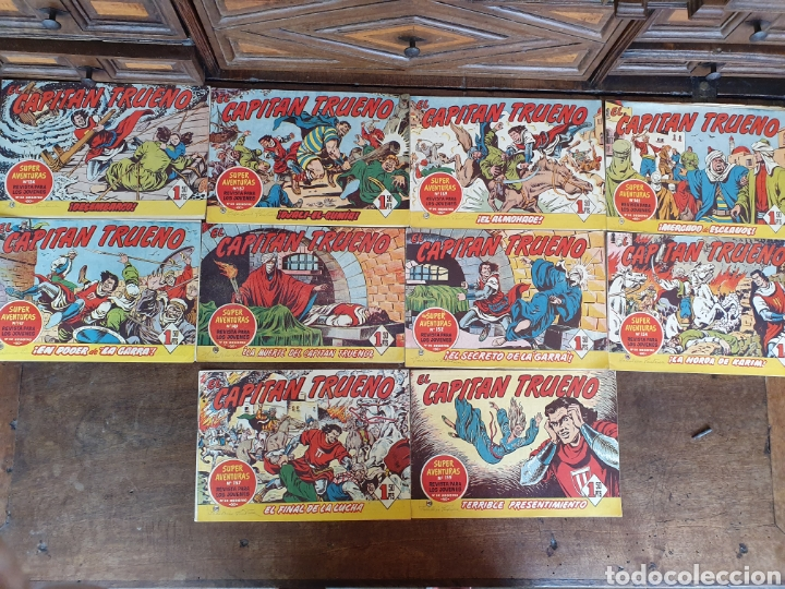 10 CÓMICS TEBEOS CAPITÁN TRUENO, DIFERENTES NÚMEROS. (Tebeos y Comics - Bruguera - Capitán Trueno)