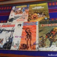 Tebeos: BRUGUERA JET NºS 1 7 13 BUDDY LONGWAY Y NºS 4 16 COMANCHE. 1983. TAPA DURA. REGALO LOS GRINGOS 2.. Lote 169453140