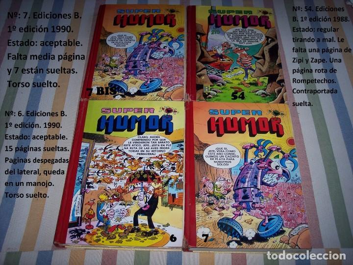 Tebeos: 31 Tomos Super Humor. Mortadelo y Filemon. Zipi y Zape. Carpanta. Botones sacarino. Años 80 y 90. - Foto 5 - 169623520