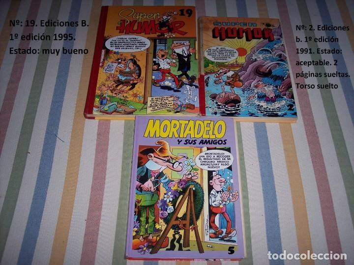 Tebeos: 31 Tomos Super Humor. Mortadelo y Filemon. Zipi y Zape. Carpanta. Botones sacarino. Años 80 y 90. - Foto 8 - 169623520