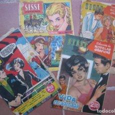 Tebeos: LOTE 4 TITULOS DE TEBEOS COMICS COLECCION SISSI NUMEROS 33 75 89 101. Lote 169851968
