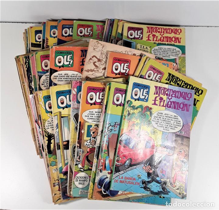 COLECCIÓN OLÉ. MORTADELO Y FILEMÓN. 40 EJEMP. EDIC. BRUGERA. BARCELONA. 1980/1991. (Tebeos y Comics - Bruguera - Otros)