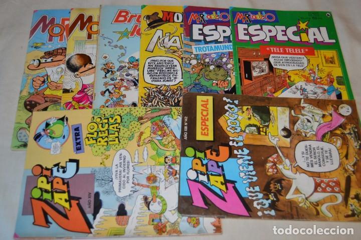 LOTE 8 TEBEOS - MORTADELO Y FILEMÓN, ZIPI Y ZAPE, BRUGUE- LANDIA - HAY EXTRA Y ESPECIALES - AÑOS 80 (Tebeos y Comics - Bruguera - Mortadelo)