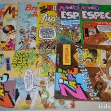 Tebeos: LOTE 8 TEBEOS - MORTADELO Y FILEMÓN, ZIPI Y ZAPE, BRUGUE- LANDIA - HAY EXTRA Y ESPECIALES - AÑOS 80. Lote 170214144