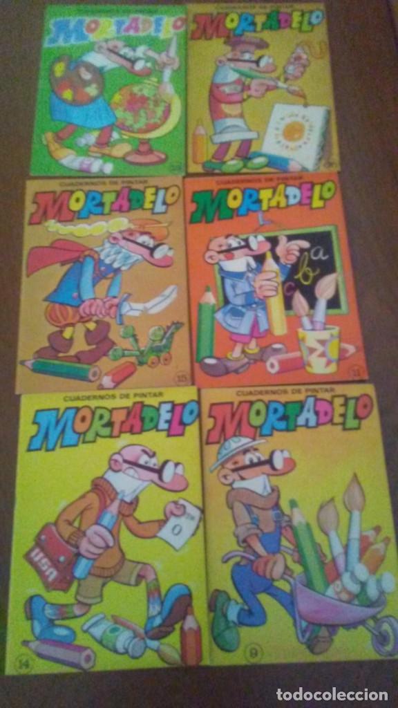 6 CUADERNOS PARA PINTAR MORTADELO + LIBRO DE JUEGOS (Tebeos y Comics - Bruguera - Cuadernillos Varios)