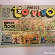Tebeos: MINI TIO VIVO - NUMERO 22 - EDITORIAL BRUGUERA - 1975. Lote 170360744