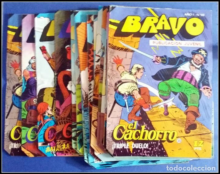 LOTE 18 TEBEO COMICS BRAVO EL CACHORRO EDITORIAL BRUGUERA (Tebeos y Comics - Bruguera - Bravo)