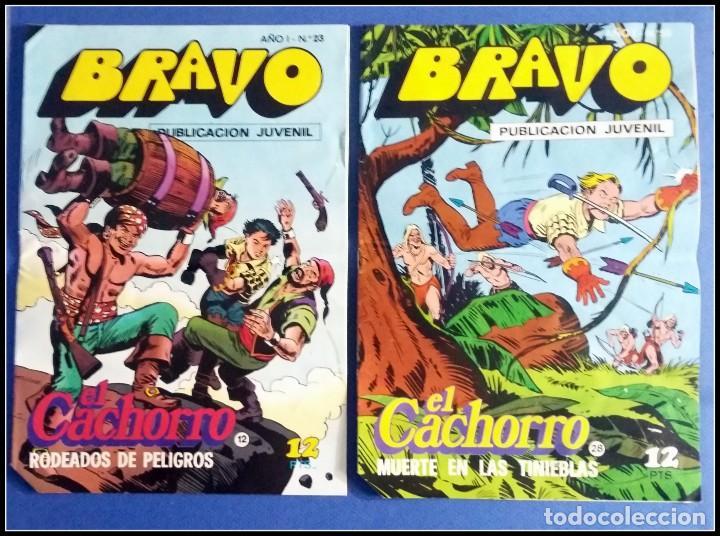 Tebeos: LOTE 18 TEBEO COMICS BRAVO EL CACHORRO EDITORIAL BRUGUERA - Foto 6 - 170367180