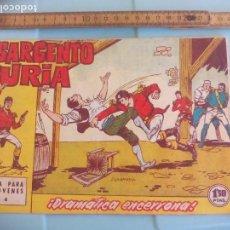 Tebeos: EL SARGENTO FURIA. NUM. Nº 4 DRAMATICA ENCERRONA. EDITORIAL BRUGUERA 1962. Lote 170918425