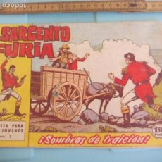 Tebeos: EL SARGENTO FURIA. NUM. Nº 3 SOMBRAS DE TRAICIÓN. EDITORIAL BRUGUERA 1962. Lote 170918980