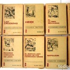 Tebeos: LOTE DE 10 LIBROS DE LA COLECCIÓN HISTORIAS SELECCIÓN DE BRUGUERA, NOVELAS EDITADAS EN BARCELONA. Lote 171030074