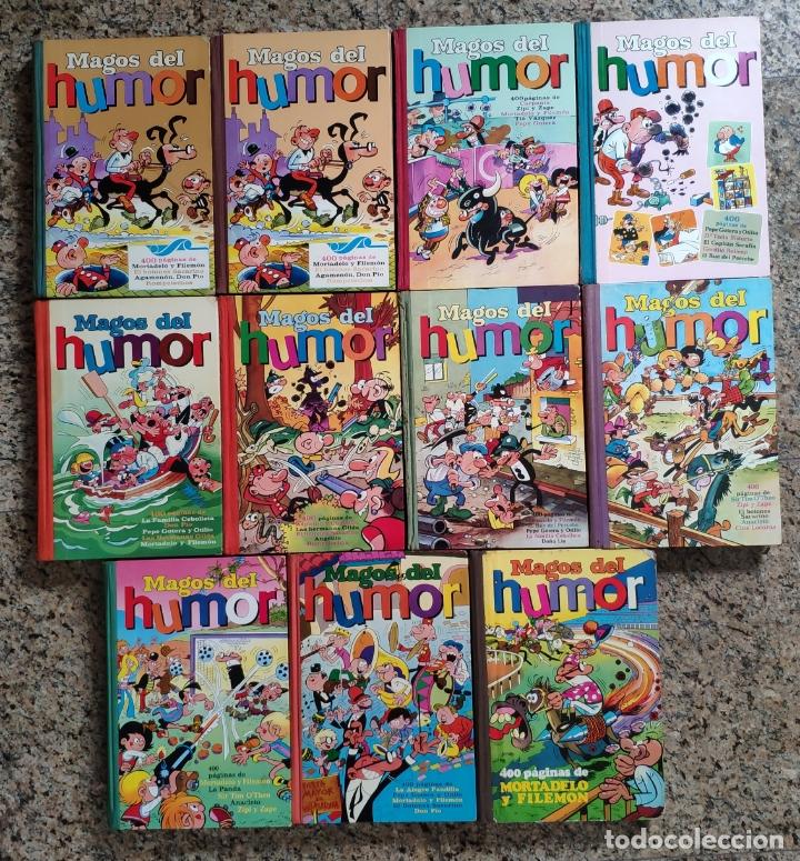 MAGOS DEL HUMOR, LOTE DE 11 NUMEROS (1 REPETIDO) - MORTADELO, SACARINO.. (BRUGUERA 1971) - RESERVADO (Tebeos y Comics - Bruguera - Otros)