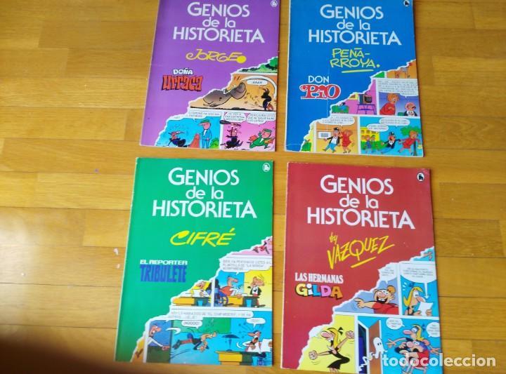 GENIOS DE LA HISTORIETA. COMPLETA 4 NÚMEROS (Tebeos y Comics - Bruguera - Cuadernillos Varios)