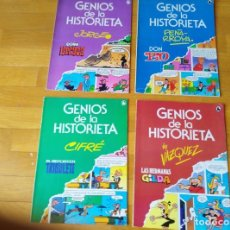 Tebeos: GENIOS DE LA HISTORIETA. COMPLETA 4 NÚMEROS. Lote 171132283