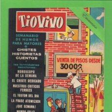 Tebeos: TIO VIVO - Nº 18 - SEMANARIO DE HUMOR PARA MAYORES - CRISOL / BRUGUERA. (1957). 1ª EDICIÓN.. Lote 171133208