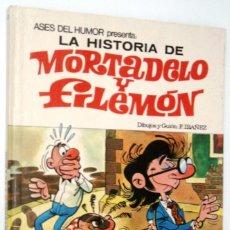 Tebeos: LA HISTORIA DE MORTADELO Y FILEMON - ASES DEL HUMOR 10 - BRUGUERA 1971. Lote 171343155