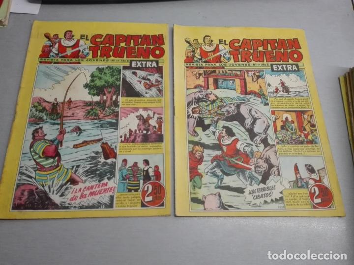 Tebeos: EL CAPITÁN TRUENO EXTRA / LOTE DE 39 NÚMEROS / BRUGUERA - Foto 10 - 171404427
