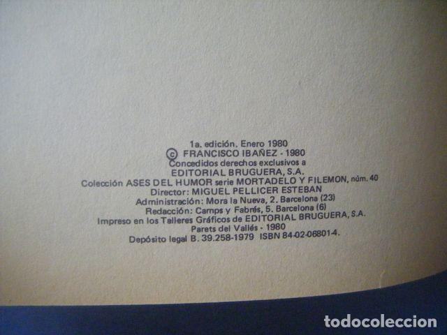 Tebeos: COMIC MORTADELO Y FILEMON Nº 40 LOS MERCENARIOS 1ª ED 1980 IBAÑEZ ASES DEL HUMOR TAPA DURA BRUGUERA - Foto 2 - 171513620