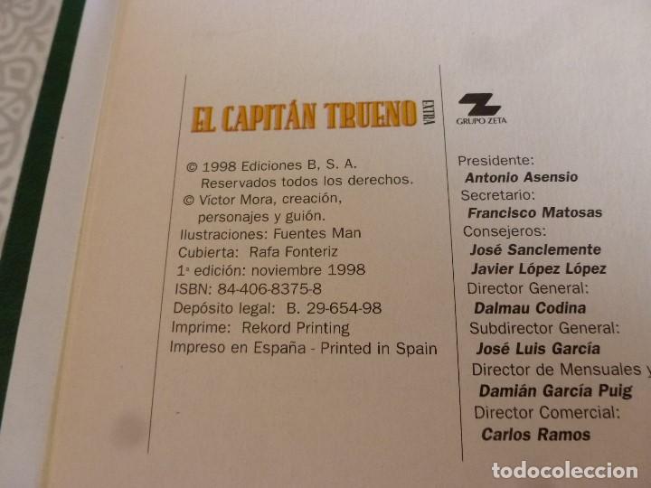 Tebeos: EL CAPITAN TRUENO EXTRA ENCUADERNACIÓN LUJO 3 TOMOS-(1ª EDICIÓN 1998) TOTAL 31 EJEMPLARES COMO NUEVO - Foto 5 - 171614204