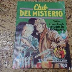 Tebeos: CLUB DEL MISTERIO - N° 100 ESTUDIO EN ESCARLATA - BRUGUERA . Lote 171688720