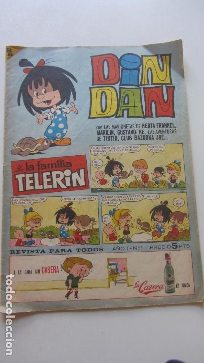 DIN DAN 1 ª EPOCA Nº 1 EDITORIAL BRUGUERA 1965 CX16 (Tebeos y Comics - Bruguera - Din Dan)