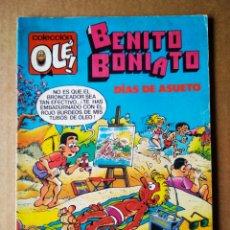 Tebeos: BENITO BONIATO: DÍAS DE ASUETO. COLECCIÓN OLÉ! N°5 (BRUGUERA, 1984). POR FRESNO'S.. Lote 208786668