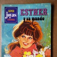 Tebeos: SÚPER JOYAS FEMENINAS N°27: ESTHER Y SU MUNDO (BRUGUERA, 1982). POR PURITA CAMPOS.. Lote 171800730