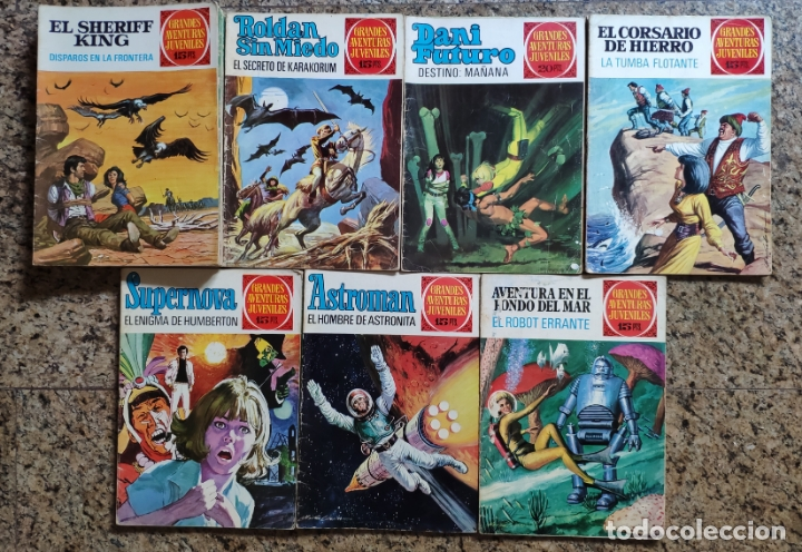 GRANDES AVENTURAS JUVENILES (SHERIFF KING, DANI FUTURO, ASTRONAN...)- LOTE DE 29 NUMEROS (BRUGUERA) (Tebeos y Comics - Bruguera - Sheriff King)