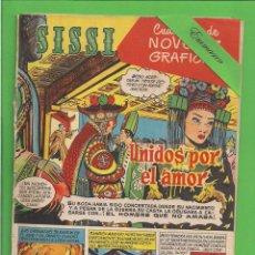 Tebeos: SISSI - Nº 9 - NOVELA GRÁFICAS - UNIDOS POR EL AMOR - BRUGUERA - (1959). AL DORSO WILLIAM HOLDEN.. Lote 171985948