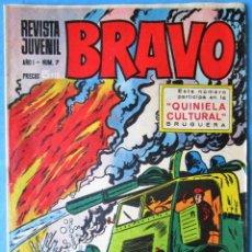 Tebeos: REVISTA JUVENIL BRAVO AÑO I Nº 7 - BRUGUERA 1968. Lote 172002807