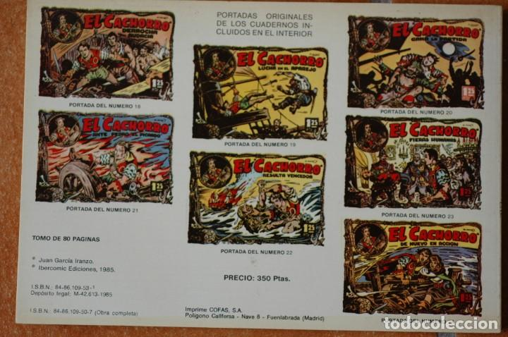 Tebeos: EL CACHORRO. TOMO NÚM. 3. POR IRANZO. IBERCOMIC EDICIONES 1985. 80 PAGS. B/N - Foto 2 - 172031043