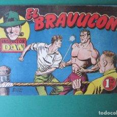 Tebeos: INSPECTOR DAN (1951, BRUGUERA) 23 · 1952 · EL BRAVUCÓN. Lote 172346735