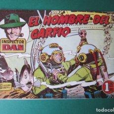 Tebeos: INSPECTOR DAN (1951, BRUGUERA) 47 · 1953 · EL HOMBRE DEL GARFIO. Lote 172364399