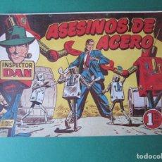 Tebeos: INSPECTOR DAN (1951, BRUGUERA) 62 · 1954 · ASESINOS DE ACERO. Lote 172366374