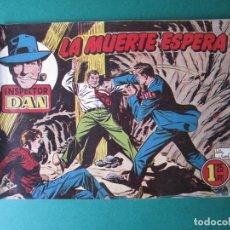 Tebeos: INSPECTOR DAN (1951, BRUGUERA) 72 · 1954 · LA MUERTE ESPERA - ¡ ÚLTIMO DE LA COLECCIÓN !!!!. Lote 172367345