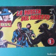 Tebeos: INSPECTOR DAN (1951, BRUGUERA) 64 · 1954 · LA VUELTA DEL MUERTO. Lote 172367734