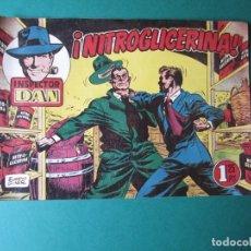 Tebeos: INSPECTOR DAN (1951, BRUGUERA) 65 · 1954 · ¡NITROGLICERINA!. Lote 172367884