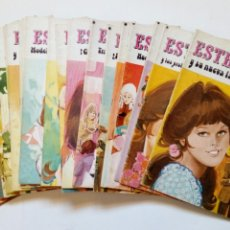 Tebeos: LOTE DE 24 NÚMEROS: ESTHER - JOYAS LITERARIAS JUVENILES, SERIE AZUL - BRUGUERA 1978 1979 1980. Lote 172464624