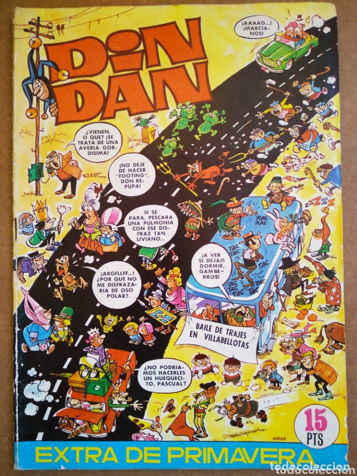 DIN DAN EXTRA DE PRIMAVERA (BRUGUERA, 1971). 68 PÁGINAS A COLOR Y BITONO. (Tebeos y Comics - Bruguera - Din Dan)