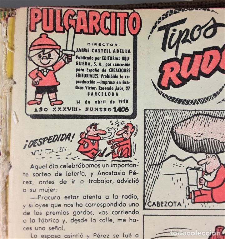 Tebeos: REVISTA PARA LOS JOVENES PULGARCITO.25 EJEMP. J. CASTELL. EDIT. BRUGUERA. 1958/1961. - Foto 5 - 172697280