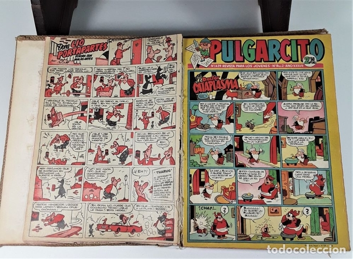 Tebeos: REVISTA PARA LOS JOVENES PULGARCITO.25 EJEMP. J. CASTELL. EDIT. BRUGUERA. 1958/1961. - Foto 7 - 172697280