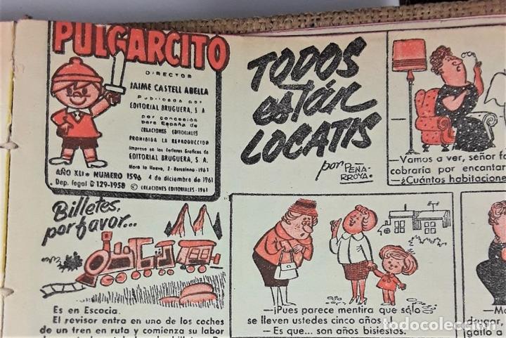 Tebeos: REVISTA PARA LOS JOVENES PULGARCITO.25 EJEMP. J. CASTELL. EDIT. BRUGUERA. 1958/1961. - Foto 14 - 172697280