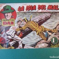 Tebeos: INSPECTOR DAN (1951, BRUGUERA) 71 · 1954 · LA ISLA DEL MAL. Lote 172725608
