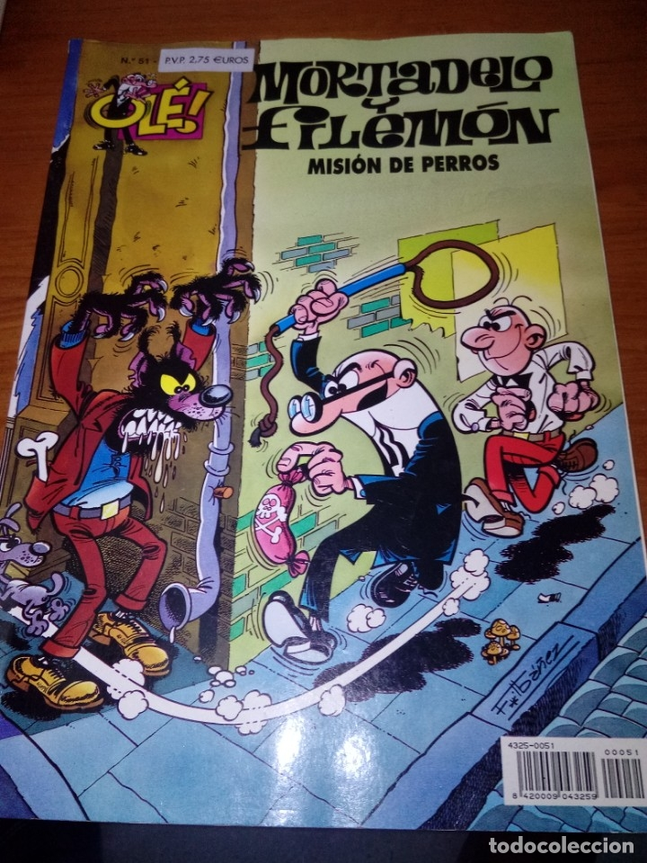 MORTADELO Y FILEMON. MISIÓN DE PERROS. EST16B5 (Tebeos y Comics - Bruguera - Mortadelo)