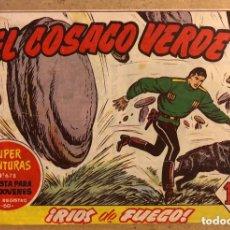 Tebeos: SUPER AVENTURAS N° 678 EL COSACO VERDE ¡RÍOS DE FUEGO! (EDITORIAL BRUGUERA 1962).. Lote 172797372