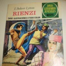 Tebeos: E. BULWER LYTTON. RIENZI. 1974 Nº 111 JOYAS LITERARIAS JUVENILES BRUGUERA (SEMINUEVO). Lote 172856143