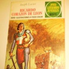 Livros de Banda Desenhada: JOSEPH LACIER RICARDO CORAZÓN DE LEÓN. 1971 Nº 19 JOYAS LITERARIAS JUVENILES (ESTADO NORMAL). Lote 173020952