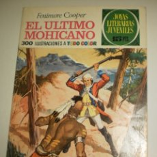 Tebeos: FENIMORE COOPER EL ÚLTIMO MOHICANO 1970 Nº 12 JOYAS LITERARIAS JUVENILES (ESTADO NORMAL). Lote 173023090