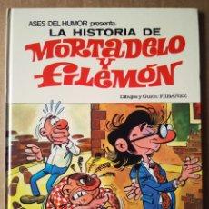 Tebeos: ASES DEL HUMOR N°10: LA HISTORIA DE MORTADELO Y FILEMÓN (BRUGUERA, 1979). 2A EDICIÓN. POR IBÁÑEZ.. Lote 173446807